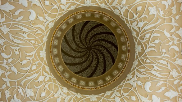 Patterns on the Ceiling and Inside a Dome at the Sheikh Zayed Mosque
