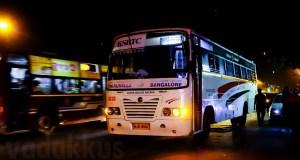 KSRTC's Bangalore - Thiruvalla Super Deluxe RSC 675 at Madiwala bus stop