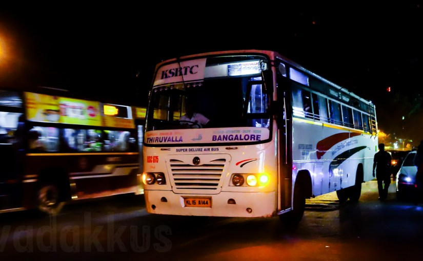 RSC 675 Bangalore-Thiruvalla Super Deluxe at Madiwala