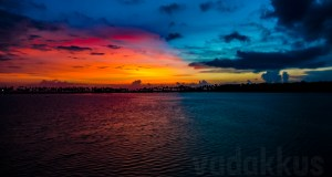 Red Blue Breathtaking Sunset Kollam Killimukkam Edava Nadayara Lake