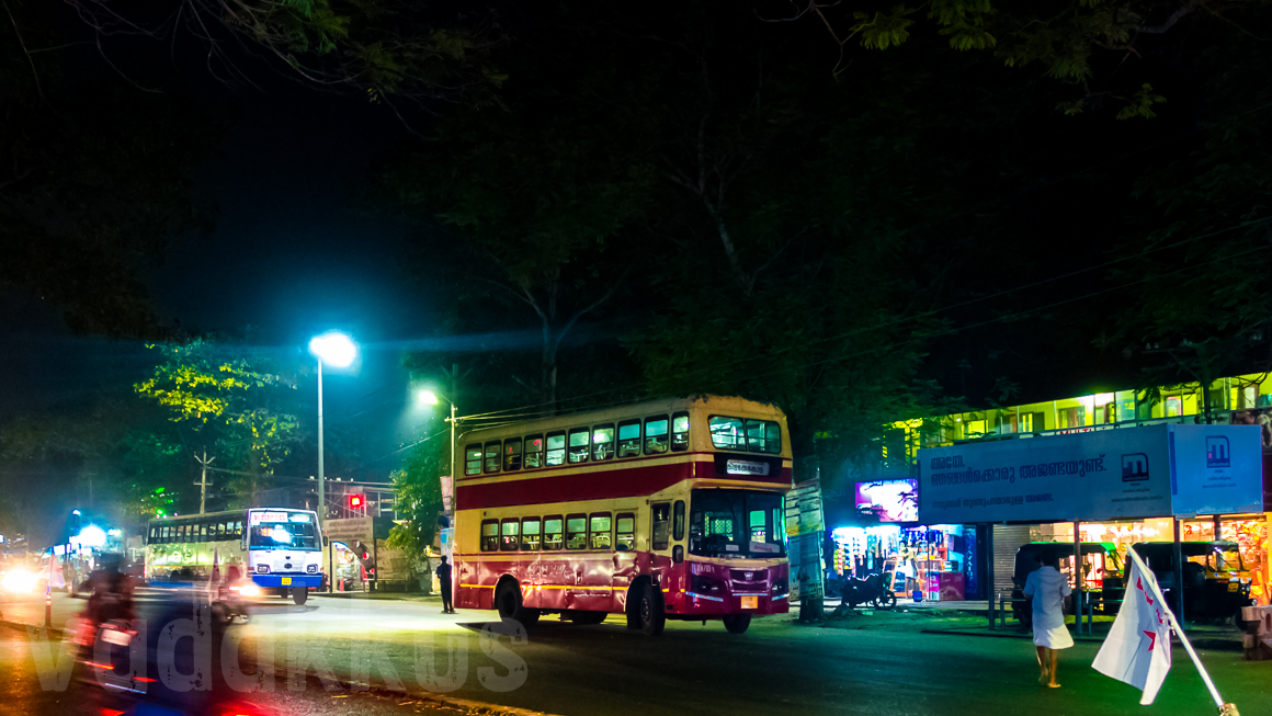 Kerala KSRTC Souble Decker City Bus RN 765 Thiruvananthapuram Kazhakoottam Night