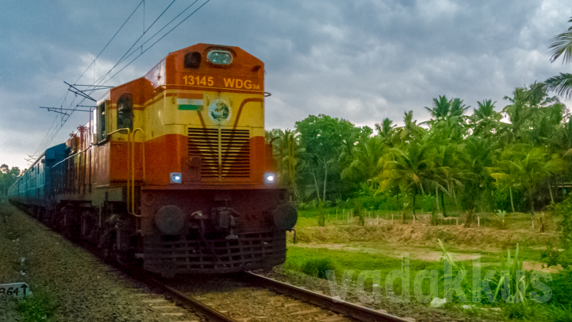 A Train and a Dramatically Beautiful Kerala Setting