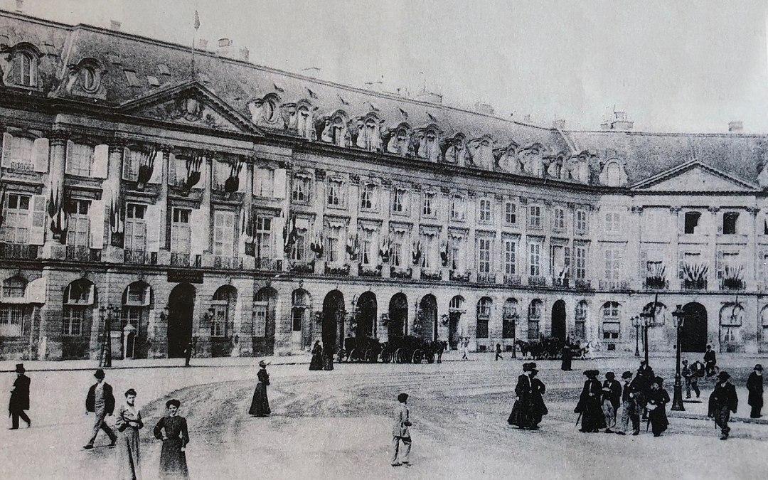 Le Ritz, Place Vendôme (Paris) où Marcel Proust allait régulièrement dîner