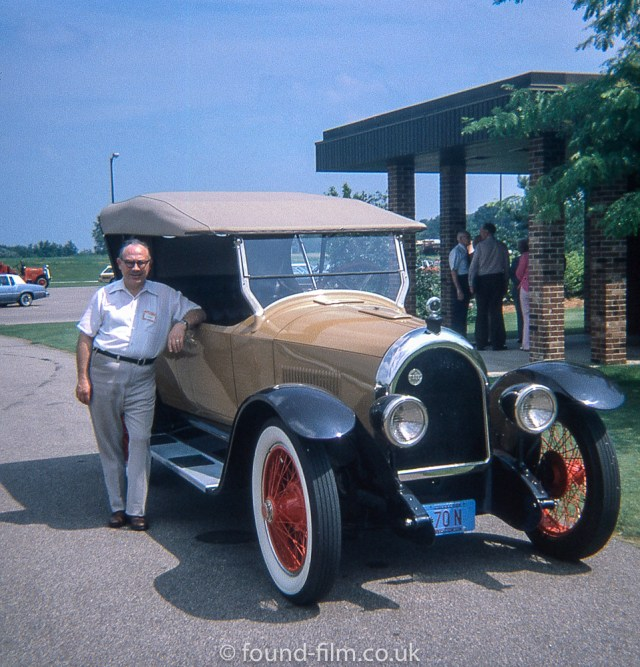 Picture of owner with Vintage Car