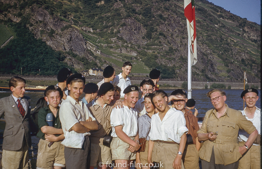 Gathered around the flag