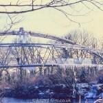 The Radyr footbridge in Winter