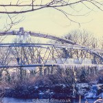 The Radyr footbridge in Winter