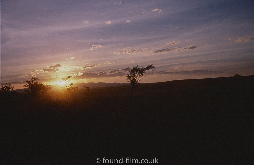Sunset over the Ngong hills in Nairobi