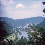 Valley, lake and bridge