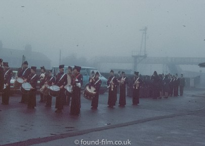 Band in the mist