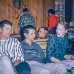 A group of friends on an evening out, probably 1950s