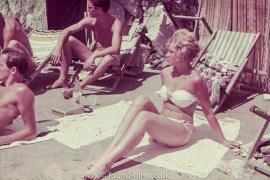 Girl in bikini on beach