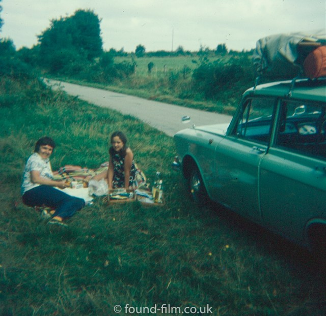 Picnic by the side of the road