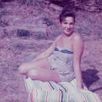 Woman posing on grass