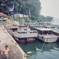 Boats in Singapore on Changi Creek in the early 1960s