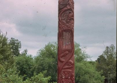 Carved Totem pole - Waitomo caves