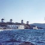 Mykonos windmills in Greece