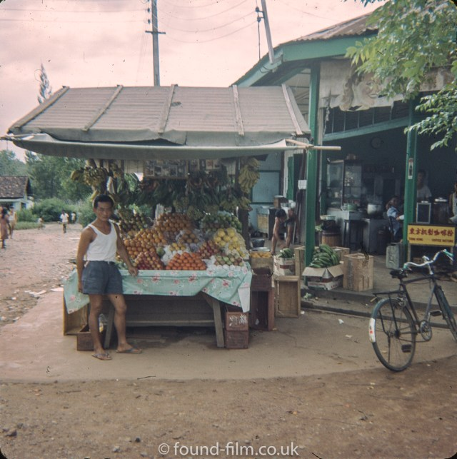 Singapore market stall holder early 1960s