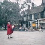 Town crier in Nantwich in 1984