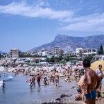 Calpe beach in Spain during the holiday season of August 1971