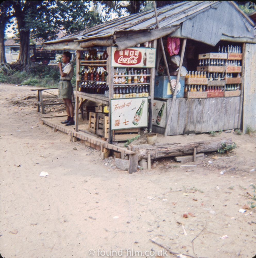 Drinks stall in Singapore in the early 1960s