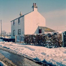 House after snowfall