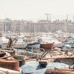 Boats in Marseille harbour in August 1973