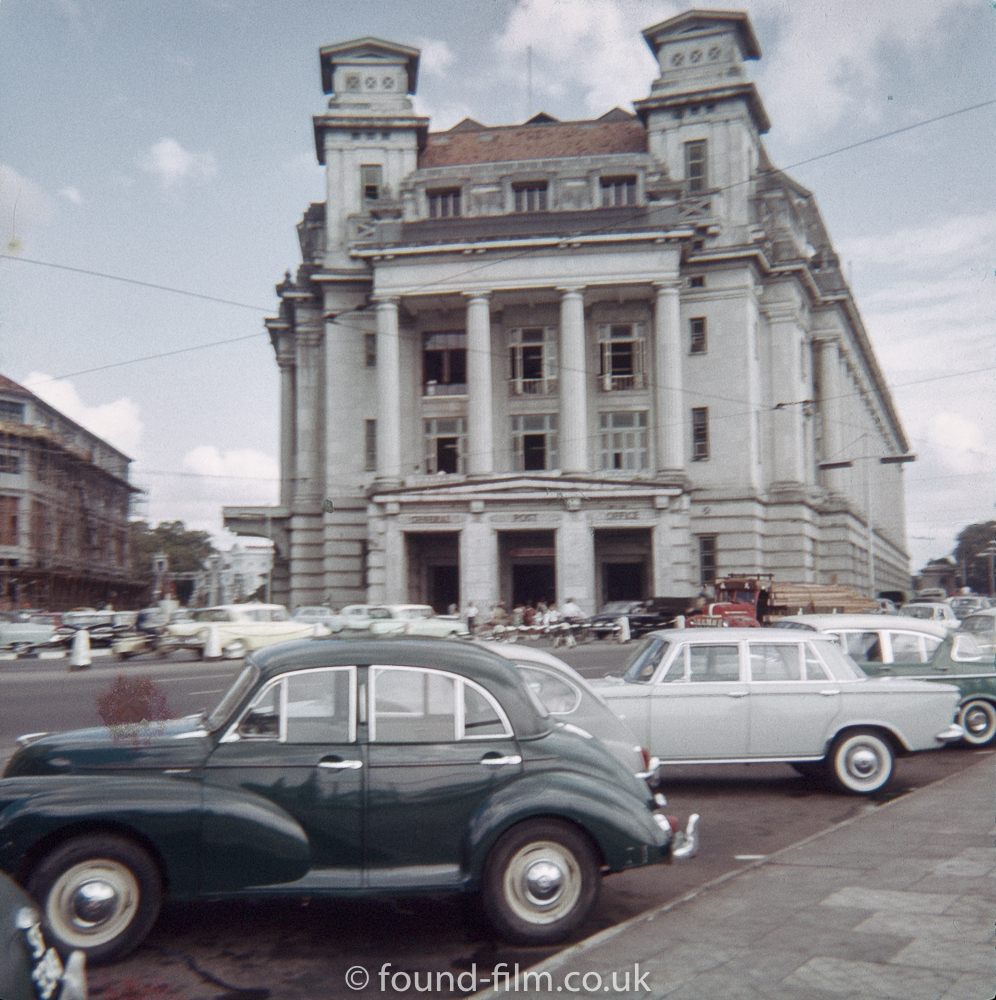 Morris Minor by the General Post Office in Singapore early 1960s
