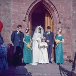 Wedding day photograph taken in the early 1960s