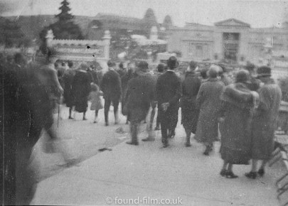 Crowd of people in the 1920s