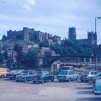 Durham Castle from car park in 1970s