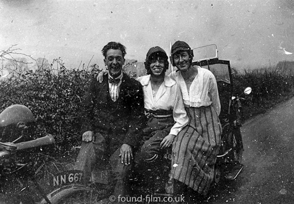 Group on Car bonnet - 1924