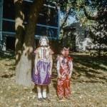 Children in Costumes wearing facemasks, December 1960