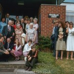 An extended family photo outside at Rosemary Court, High Wycombe