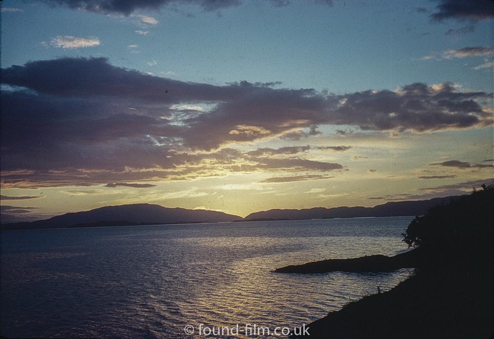 Sunset over Crinan - July 1960