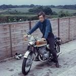 Man on Kawasaki motorbike
