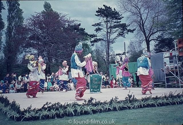 An oriental dance group