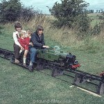 Family on model railway – November 1972