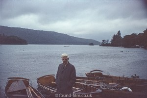 Man by boats