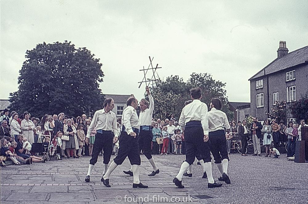 Morris men dancing
