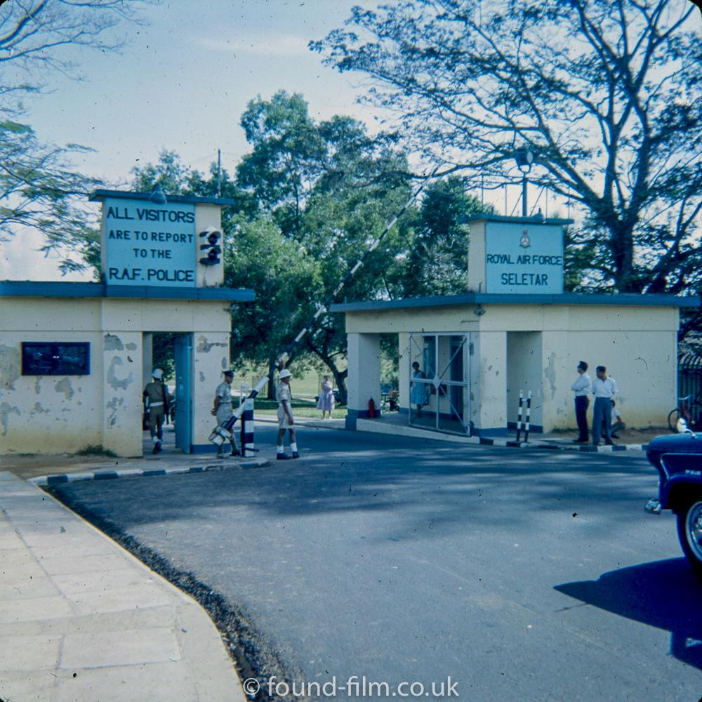 Entrance to base