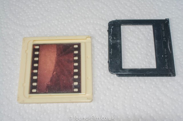 Cleaning old 35mm slides - The slide being disassembled