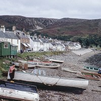 Ullapool seashore in colour, taken in 1967