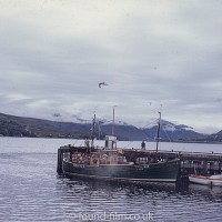 Boats at Ullapool harbour in Scotland in 1967