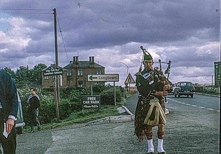 A piper at Gretna Green