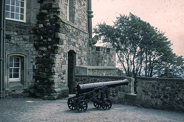 A cannon at Stirling Castle