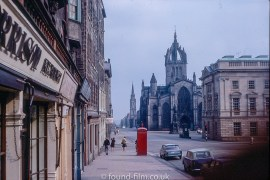 The Royal Mile in Edinburgh, 1967