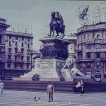 War memorial in Milan Square in about 1960