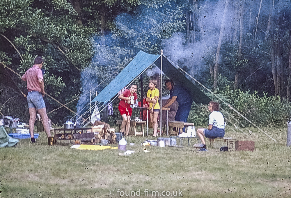 A day camping with the family