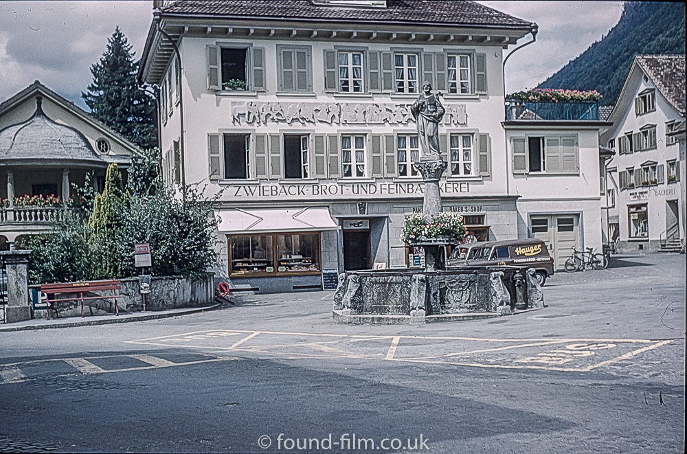 By the William Tell Monument in Altdorf in 1962